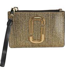 marc jacobs the snapshot glitter top zip multi wallet