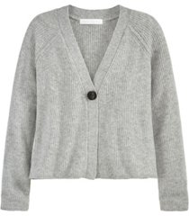 women's deep v-neck 1 button cardigan