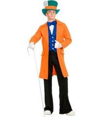 buyseasons men's orange electric mad hatter adult costume