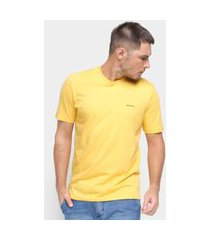 camiseta básica masculina m. officer malha lisa casual amarelo p amarelo