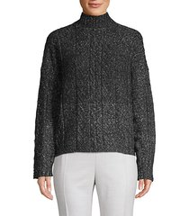 blair cableknit turtleneck sweater
