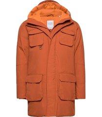 arctic canvas parka jacket - grs/ve parka jas bruin knowledge cotton apparel