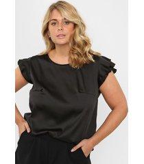 blusa negra circe raso