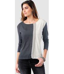 shirt alba moda antraciet::lichtgrijs::offwhite