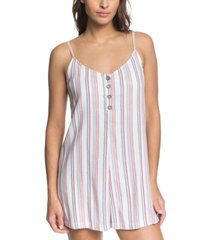 women's coconut sunshine stripe romper