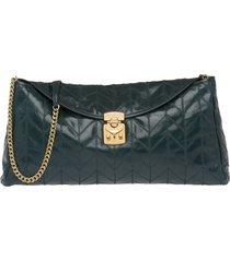 miu miu patchwork motif clutch bag - green
