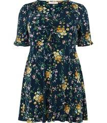 curve gebloemde jurk madeline