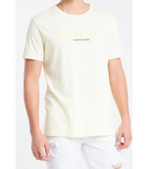 camiseta mc regular silk meia reat gc - amarelo claro - pp
