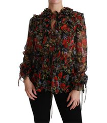 floral roses blouse