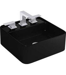 cuba de apoio quadrada com mesa ébano l280 - deca - deca