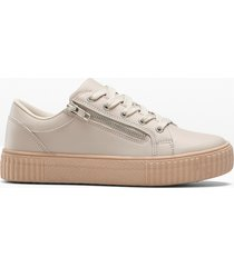 sneaker con plateau (beige) - bpc selection