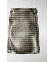 p.a.r.o.s.h. check-pattern mini skirt