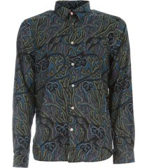 ps by paul smith tailored fit l/s shirt w/leaves