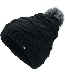 gorro the north face triple cable fur pom preto