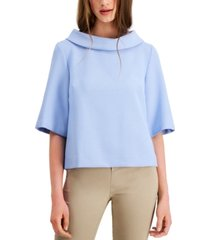 trina turk kailee funnel-neck top