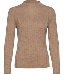 merino ribbed sweater in responsible wool stickad tröja brun banana republic