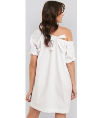 na-kd trend one shoulder cotton dress - white