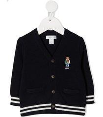 ralph lauren cotton knit cardigan with logo