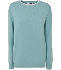 msgm classic ribbed sweater