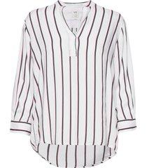 blouse blus långärmad vit lee jeans