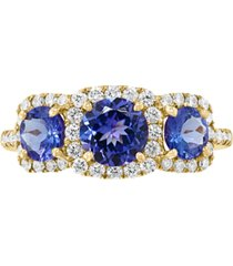 effy tanzanite (1-5/8 ct. t.w.) & diamond (3/8 ct. t.w.) ring in 14k gold