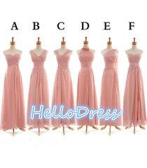 long sweetheart v neck halter one shoulder chiffon bridesmade formal dresses