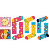 happy socks women's breakfast socks gift box, pack of 3