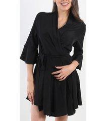 vestido marilyn cruzado negro night concept