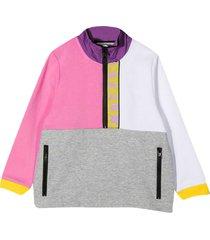 stella mccartney kids multicolor sweatshirt with zip