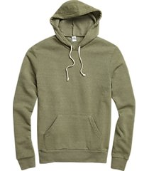 alternative apparel fleece army green modern fit hoodie pullover