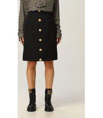 balmain skirt balmain wool skirt