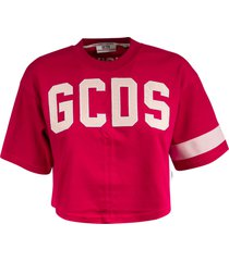 gcds cropped logo t-shirt