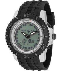 relógio masculino speedo 81155g0evnp2 - prata/pret