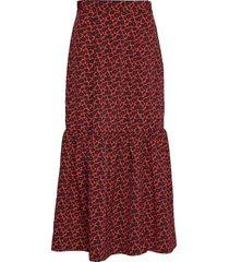 ziga mini knälång kjol röd rodebjer