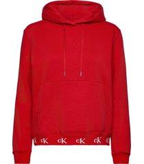 ck logo trim hoodie hoodie trui rood calvin klein jeans