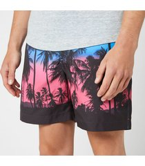 orlebar brown men's bulldog photographic swim shorts - keep palm and carry on - w34/l - multi