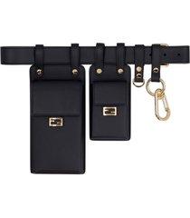 fendi multi-equipped leather belt