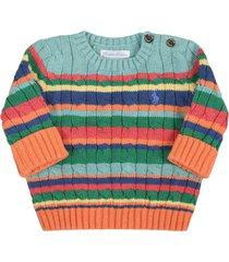 ralph lauren multicolor sweater for babykids with pony logo