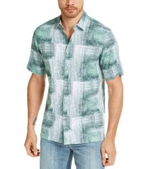 alfani men's refraction graphic linen shirt, created for macy's
