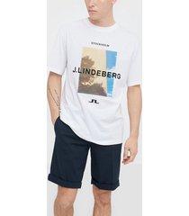 j lindeberg michael-distinct cotton t-shirts & linnen sky