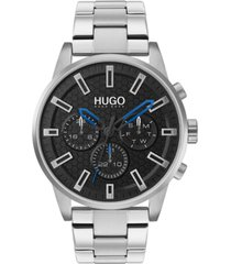 hugo men's chronograph #seek stainless steel bracelet watch 44mm
