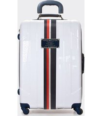"tommy hilfiger women's 21"" spinner suitcase white -"