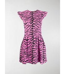 saint laurent zebra print dress