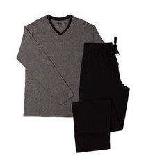pijama masculino de inverno mash blusa manga longa e calça