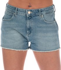 wrangler womens boyfriend shorts size 12-14 in blue