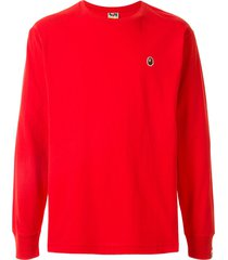 a bathing ape® ape head one point t-shirt - red