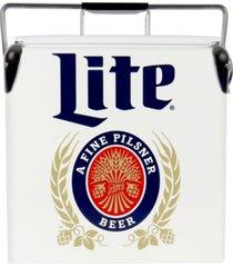 miller lite retro ice chest cooler with bottle opener 13l