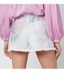 isabel marant étoile women's lesiabb shorts - celadon - fr 36/uk 8