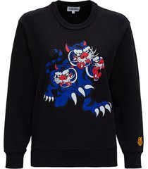 kenzo tiger crest jersey sweatshirt