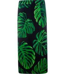 dolce & gabbana leaf printed skirt